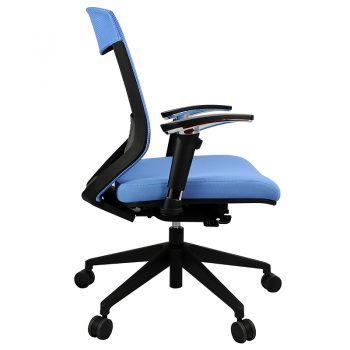 Breathe Pro Chair, Blue, Side View