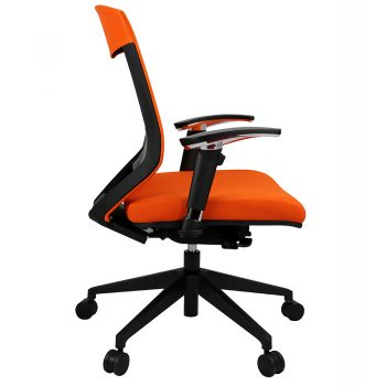 Breathe Pro Chair, Orange, Side View
