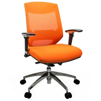 Breathe Chair, Orange with Poished Alloy Base