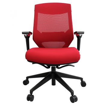 Breathe Pro Chair, Red, Front View