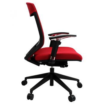 Breathe Pro Chair, Red, Side View