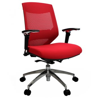 Breathe Chair, Red with Poished Alloy Base