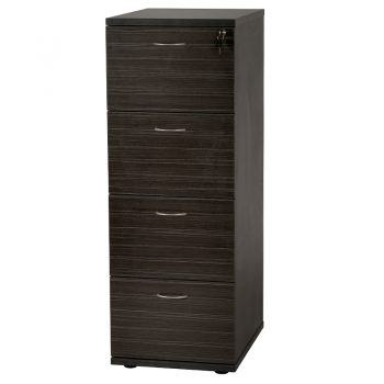 Timber 4 drawer filing cabinet
