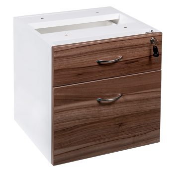 Essential Fixed Drawer Unit, 1 Personal + 1 Deep File Drawer