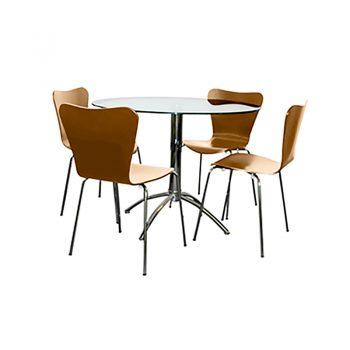 Jose Beech Chairs, Elena Table