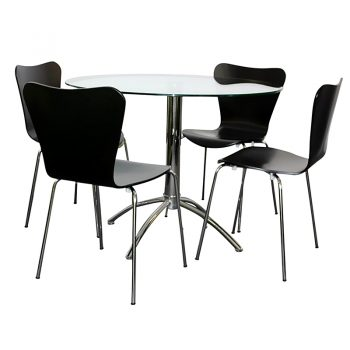 Jose Black Chairs, Elena Table