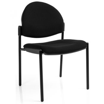 Juni Curved Back Chair, Black 4 Leg Frame, no Arms