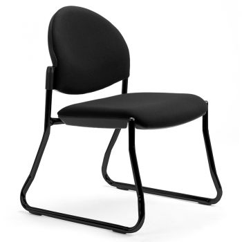 Juni Curved Back Chair, Black Sled Frame, no Arms
