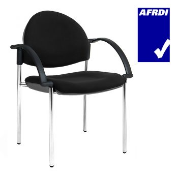 Juni 4 Leg Curved Back Visitor Chair with Arms
