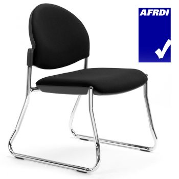 Juni Sled Frame Curved Back Visitor Chair without Arms