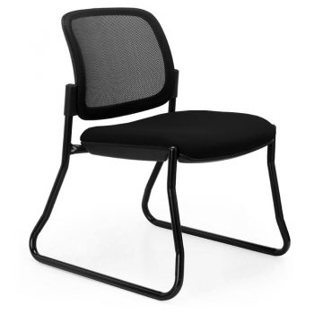 Juni Mesh Back Chair, Black Sled Frame, no Arms