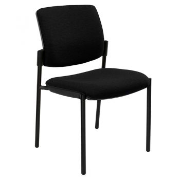 Juni Square Back Chair, Black 4 Leg Frame, no Arms