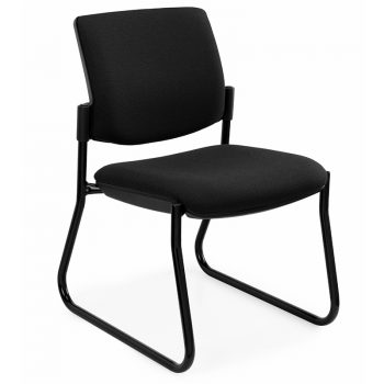 Juni Square Back Chair, Black Sled Frame, no Arms