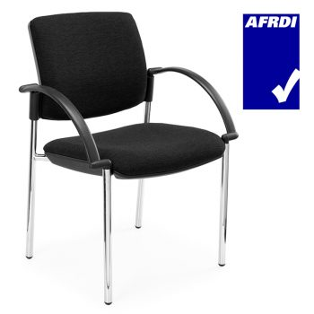 Juni 4 Leg Square Back Visitor Chair with Arms