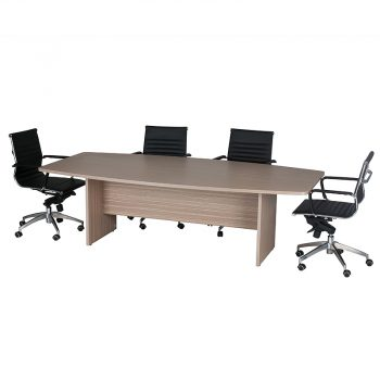 Primo Boat Shaped Meeting Table with Chairs