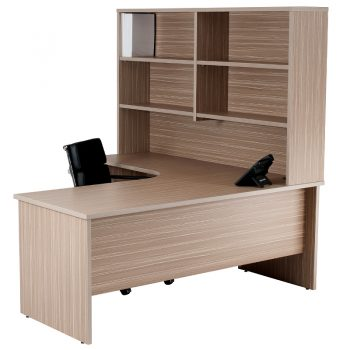 Corner Workstation with Hutch
