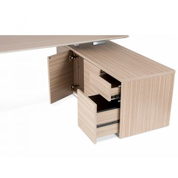 Primo Electric Height Adjustable Desk with Right Hand Storage Cupboard, Detail