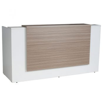 White and Timber Reception Desk