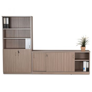 Primo Wall Unit with Sliding Door Credenza