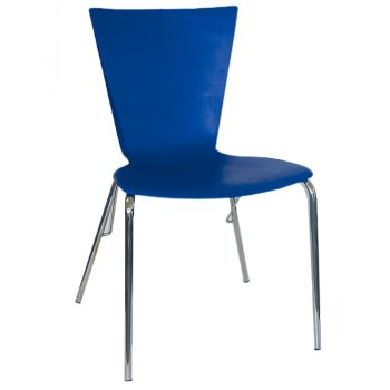 Blue Cafe Chair