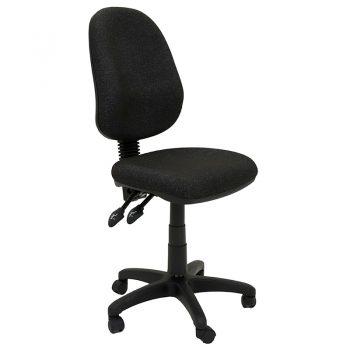 Avon High Back Chair, Charcoal Fabric