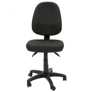 Avon High Back Chair, Charcoal Fabric, Front View