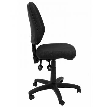 Carson Chair, Charcoal Fabric, Side View