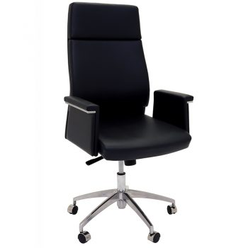 Pelle High Back Chair