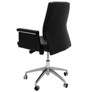 Croydon Medium Back Chair, Left Rear Angle View