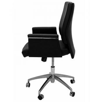 Croydon Medium Back Chair, Left Side View