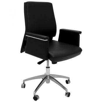 Croydon Medium Back Chair, Right Front Angle View