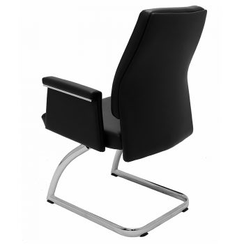 Croydon Visitor Chair, Left Rear Angle View