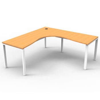 Modular Corner Workstation, Beech Top