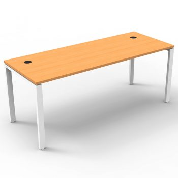 Modular Desk, Beech Top, No Screen Divider