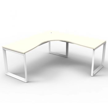 Modular Loop Leg Corner Workstation, White Top