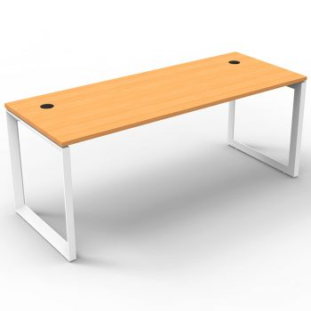 Modular Loop Leg Desk, Beech Top, No Screen Divider