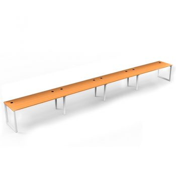 Modular Loop Leg 4 Inline Desks, Beech top