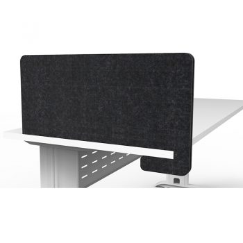 Modular Slide-On Black Desk Divider