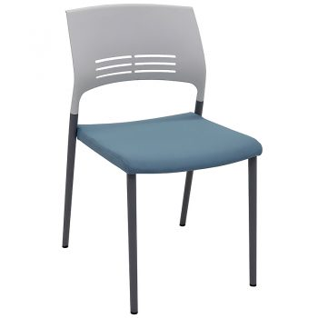 Sophie Chair, Blue Upholstered Seat Pad