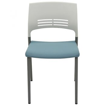 Sophie Chair, Blue Upholstered Seat Pad, Front View