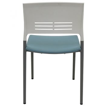 Sophie Chair, Blue Upholstered Seat Pad, Rear View