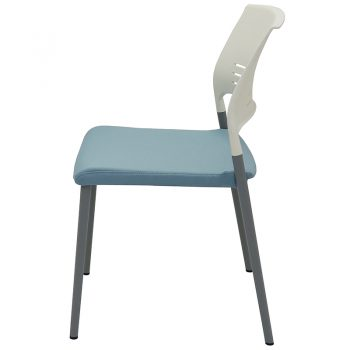 Sophie Chair, Blue Upholstered Seat Pad, Side View