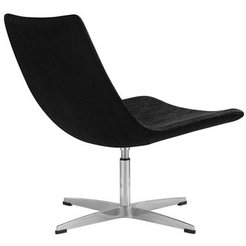 Fuji Chair, Charcoal Fabric, Rear View