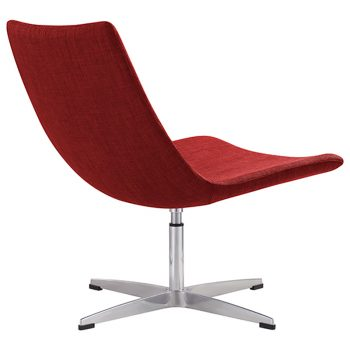 Fuji Chair, Red Fabric - Rear View