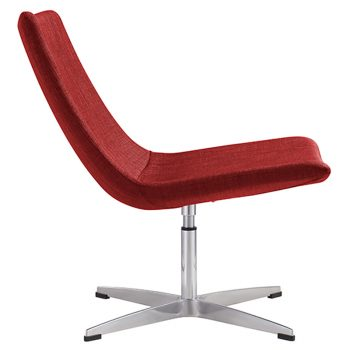 Fuji Chair, Red Fabric - Side View