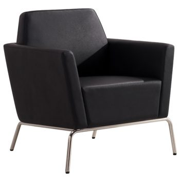 Black Function Lounge Reception Office Chair