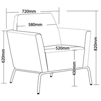 Function Chair, Dimensions
