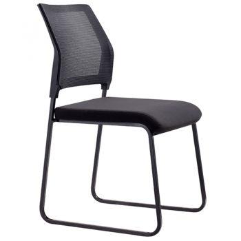 Black mesh visitor chair