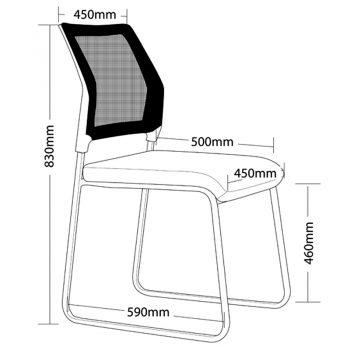 Hyper Chair, Dimensions