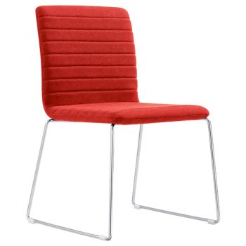 Red visitor chair